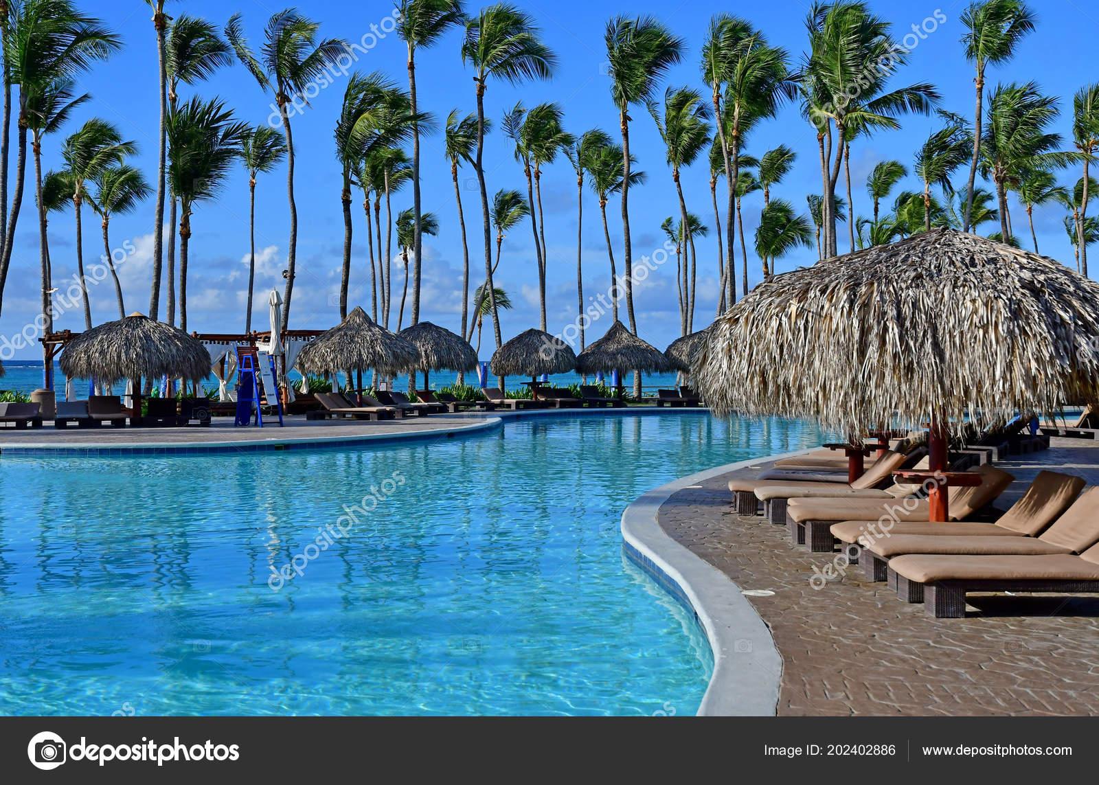 punta cana dominican republic may 2017 pool hotel stock editorial