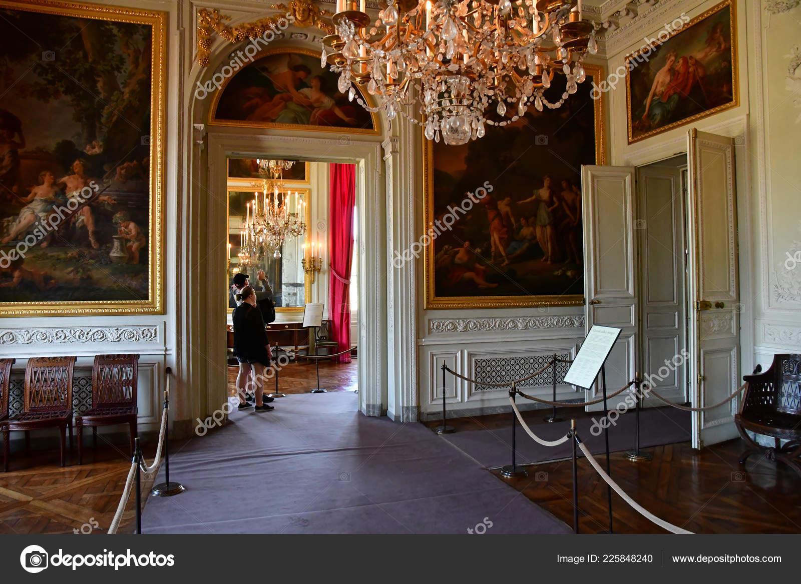 Versailles France Octobre 2018 Salle Manger Petit Trianon Dans
