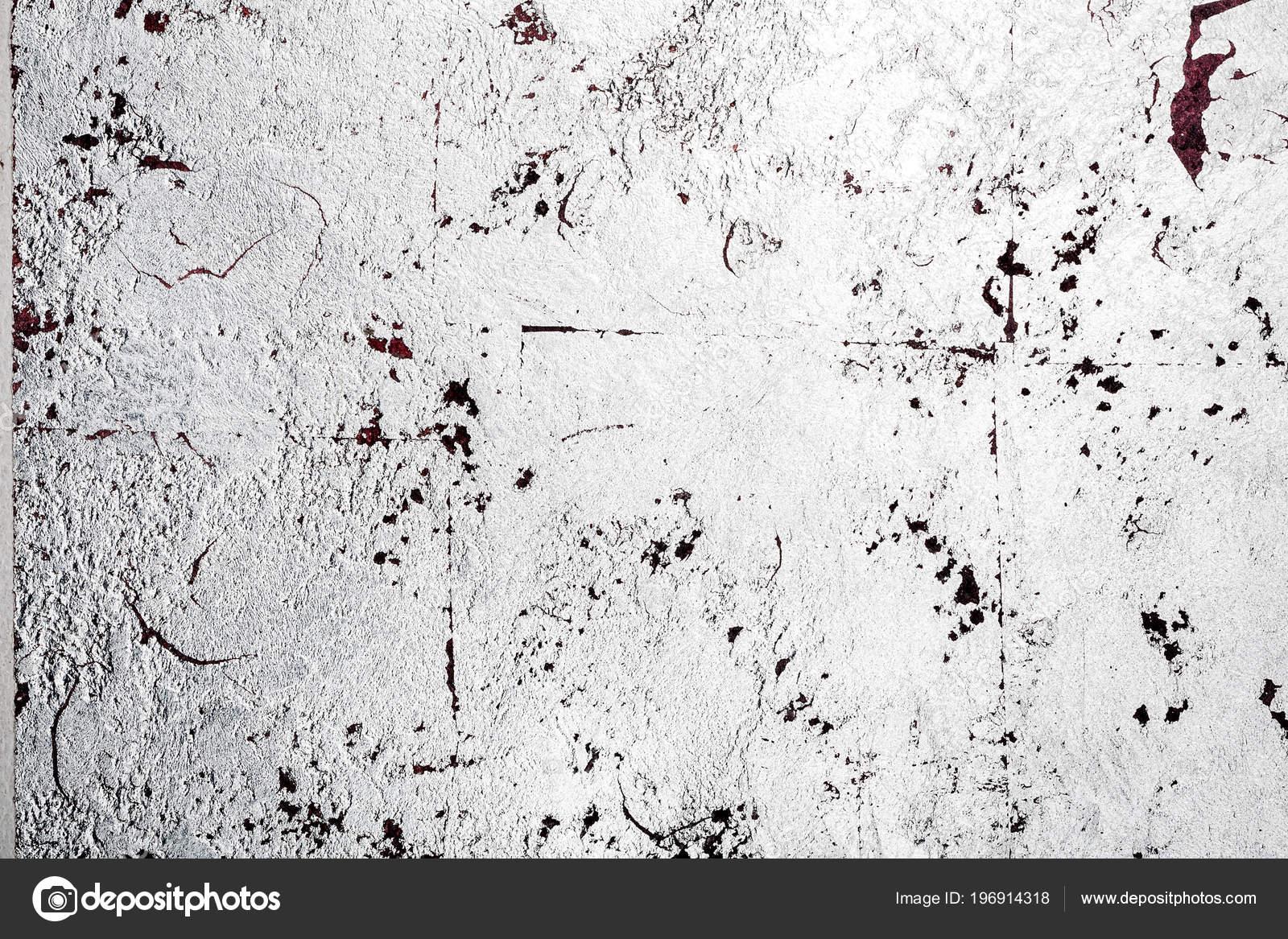 Couleur Argent Désordre Mur Stuc Texture Fond Peinture