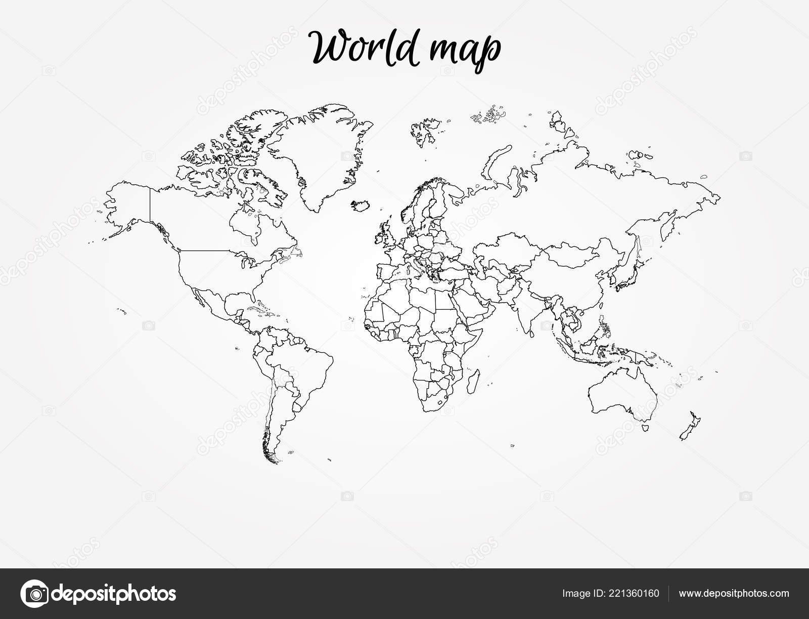 Blank globe template | World Map Vector Globe Template