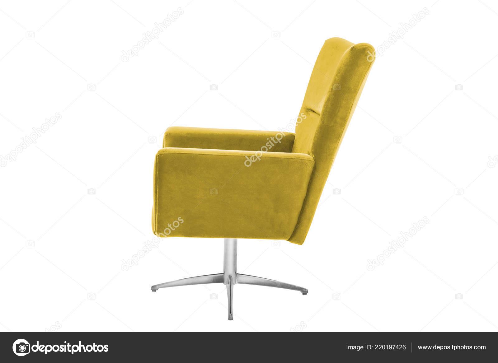 Design Stoel Fauteuil.Kleur Fauteuil Moderne Design Stoel Witte Achtergrond Textuur