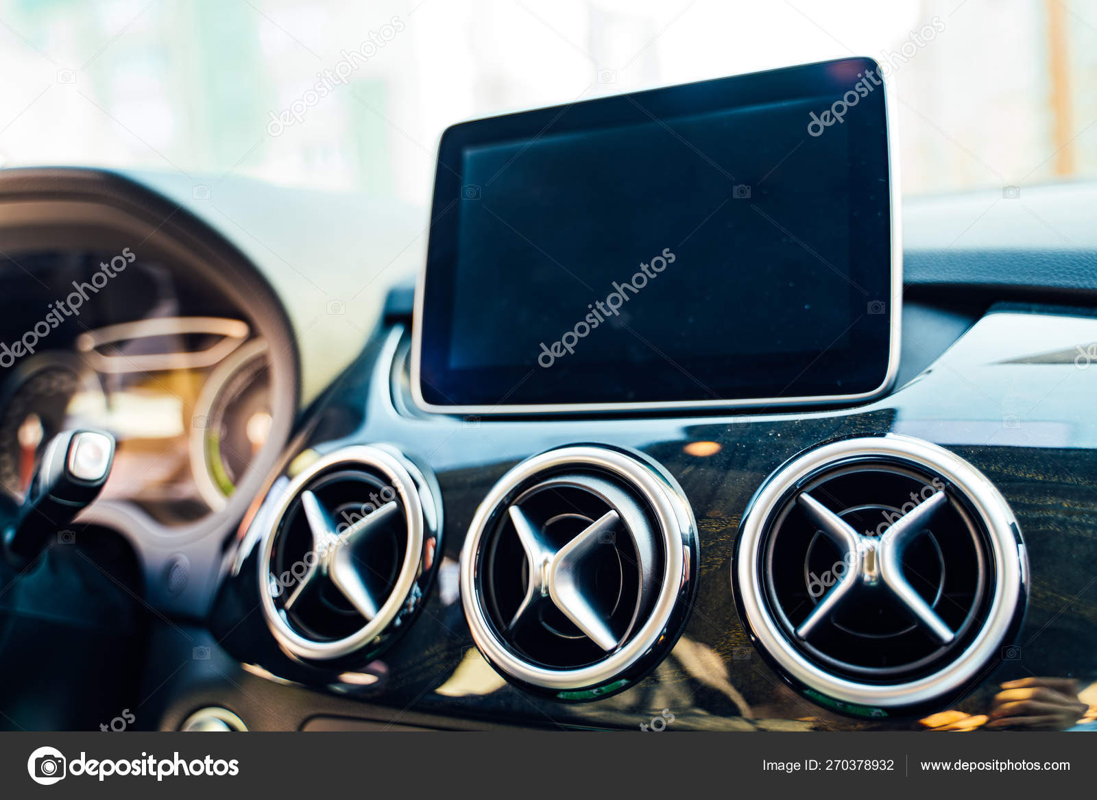 Vinnitsa Ukraine April 2019 Electric Car Mercedes Steering Wheel And Dashboard View Modern New Cars For Sale Stock Editorial Photo C Wedmov 270378932