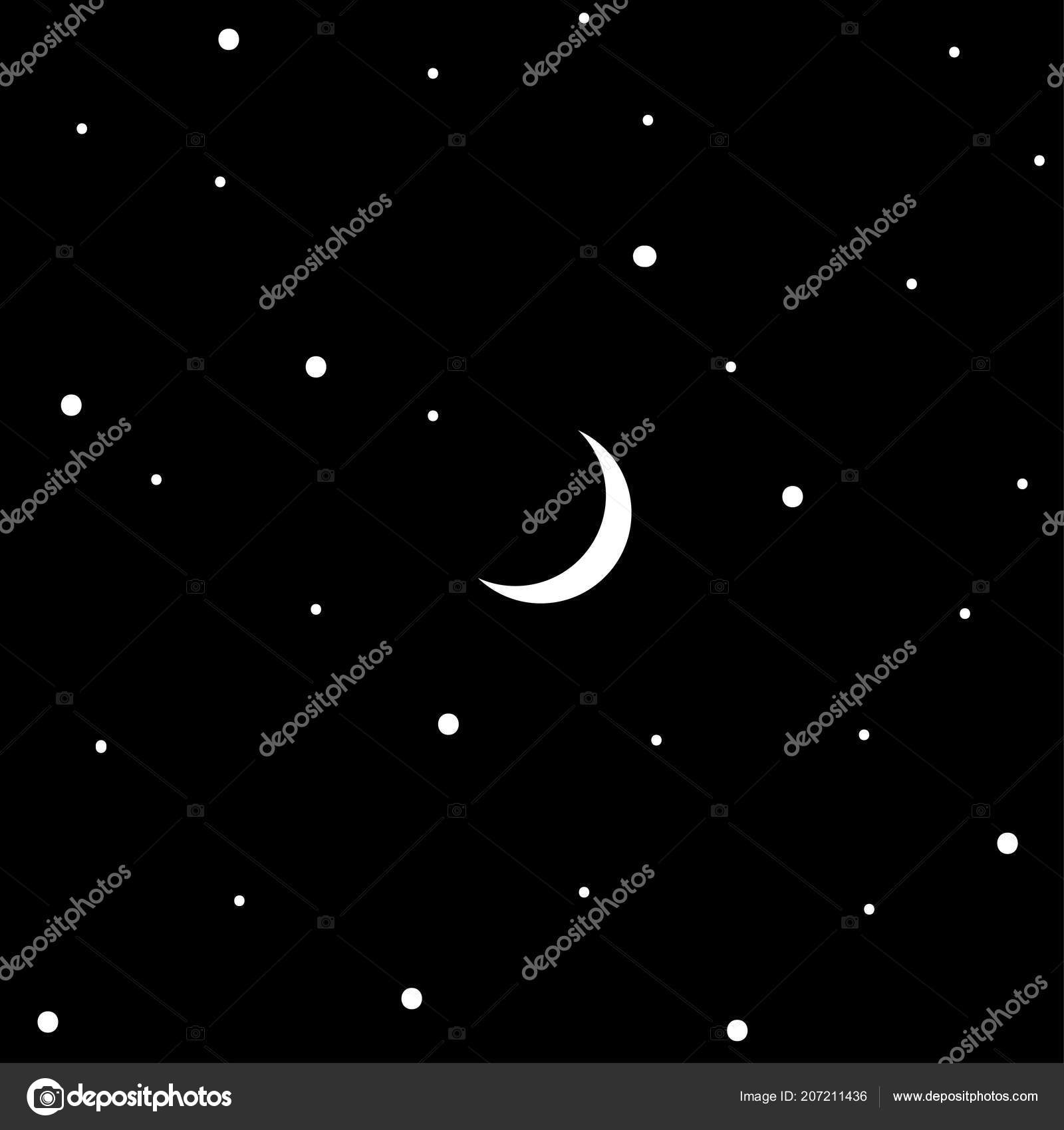 Wallpapers Starry Night Black White Texture Starry Sky