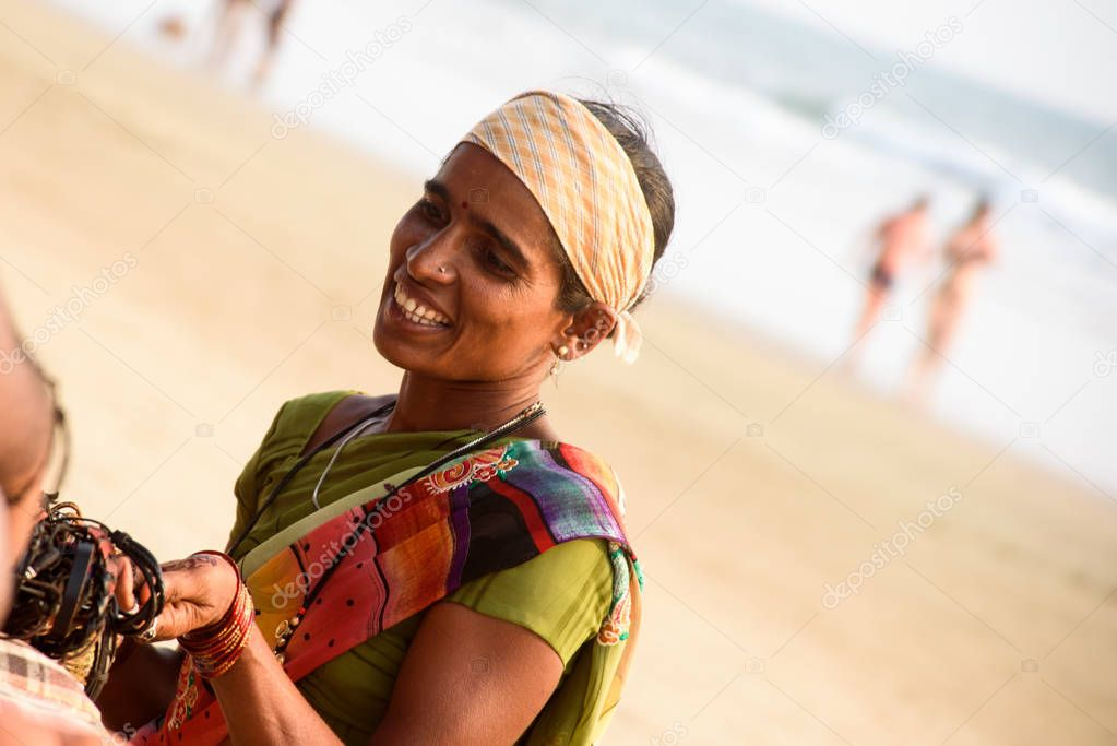 Seller on the beach Goa
