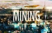 Bergbau mit Manhattan, Ny