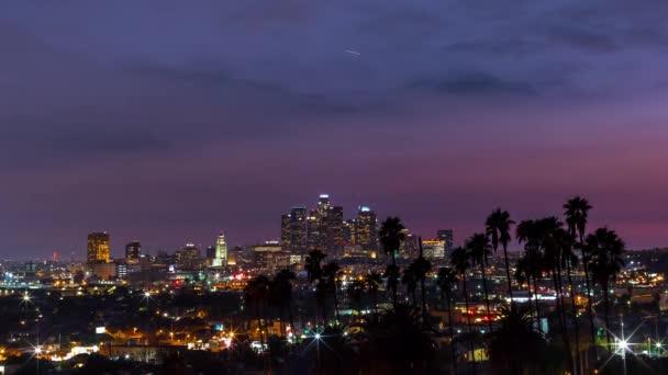Sunrise time-lapse of Downtown LA