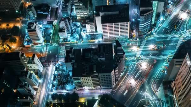 Time-lapse of traffic moving through Toranomon, Tokyo