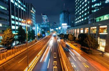 Late night traffic in Shibuya, Tokyo,