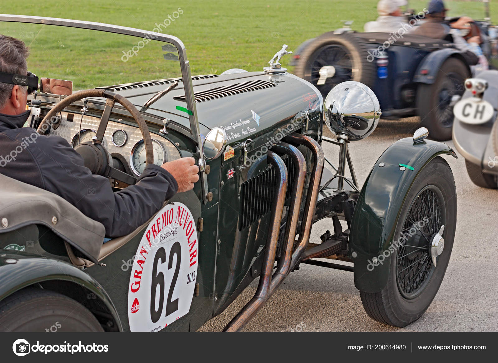 Old Racing Car Jaguar Ss100 Spec 1938 Runs Rally Gran – Stock ...
