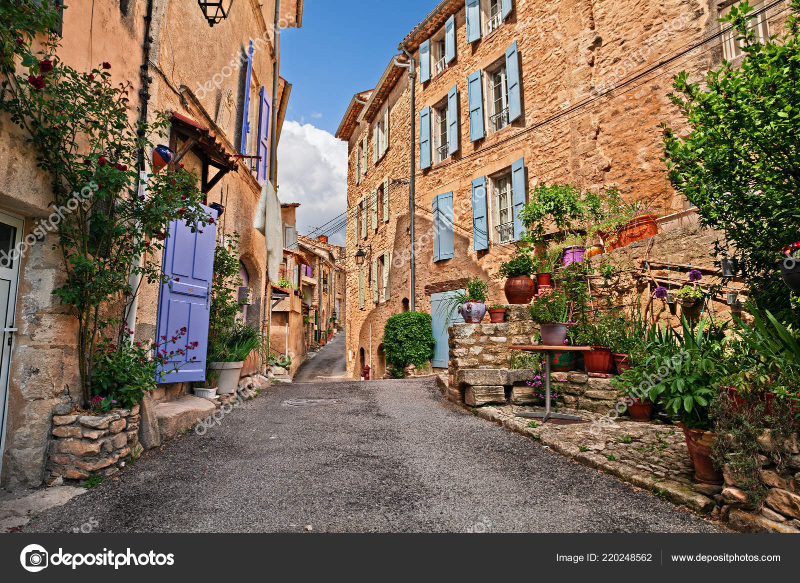Mane Forcalquier Provence France Ancienne Ruelle Pittoresque