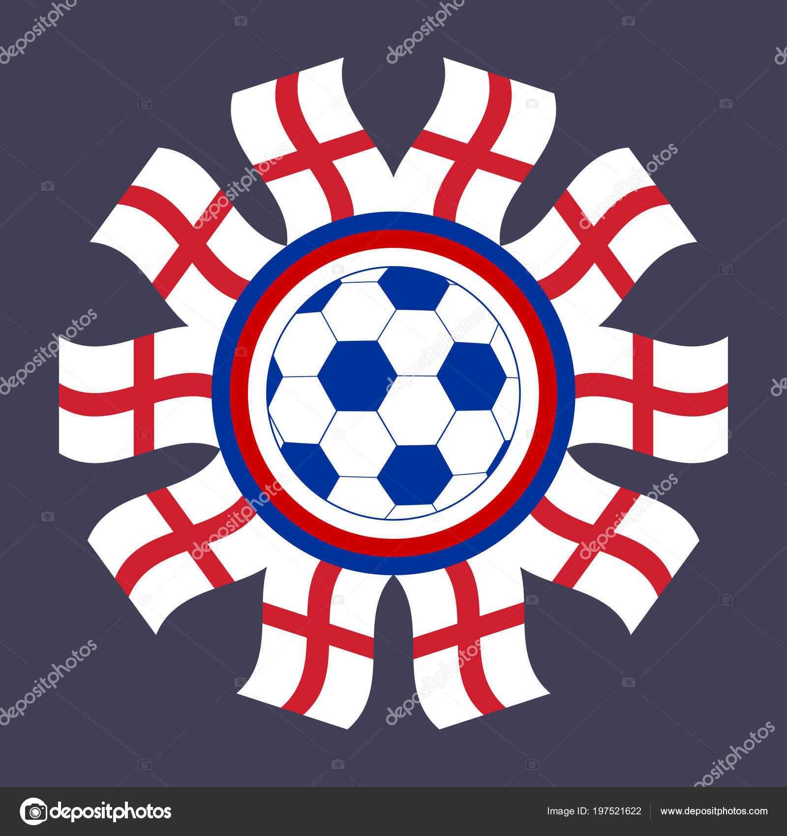 Fussball Ikone England Vektor Bild Eines Fussballs Umrahmt Mit