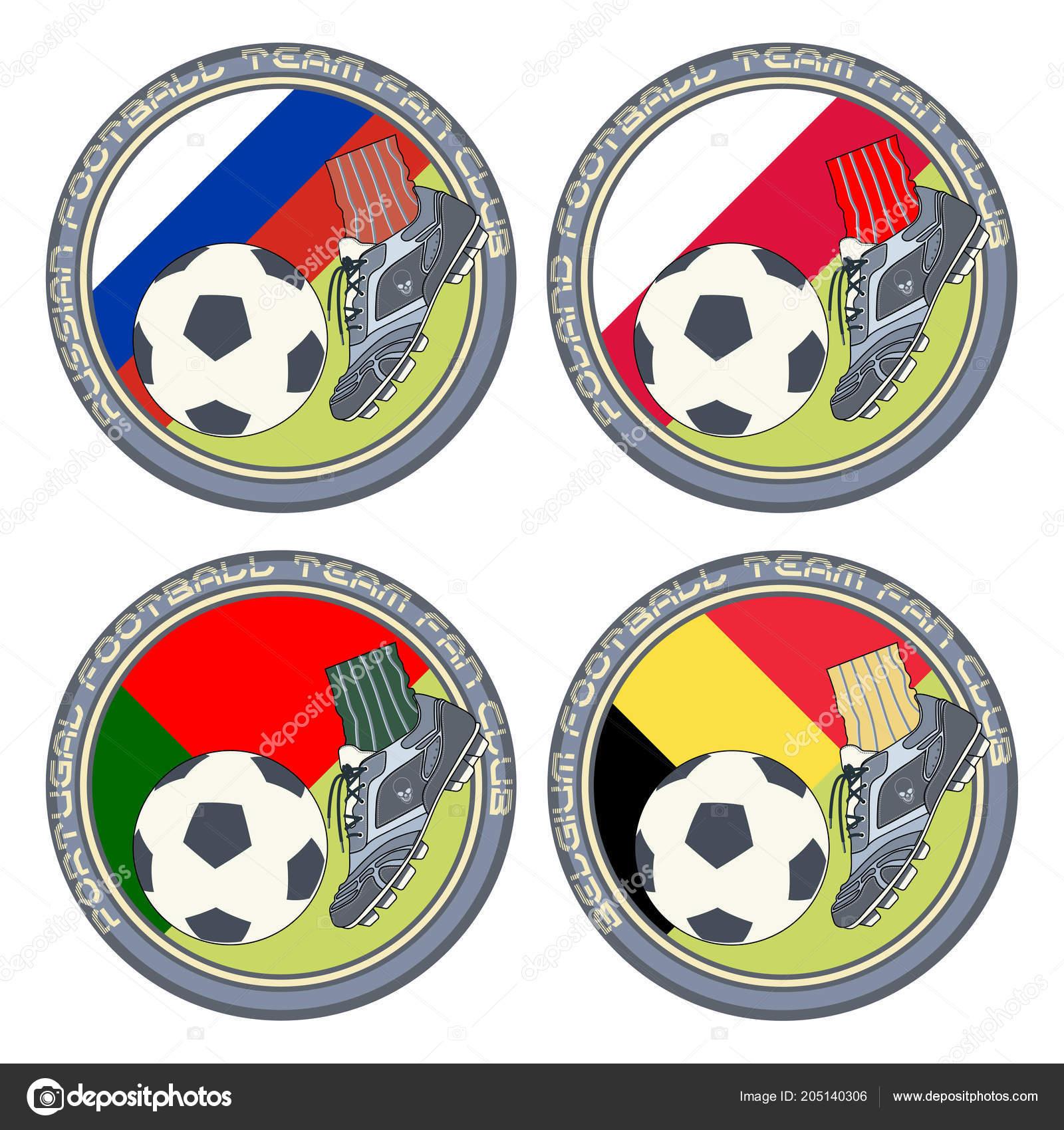 Fußball Fan Logo Vektor Illustration Eine Farbige Logo Für Fußball