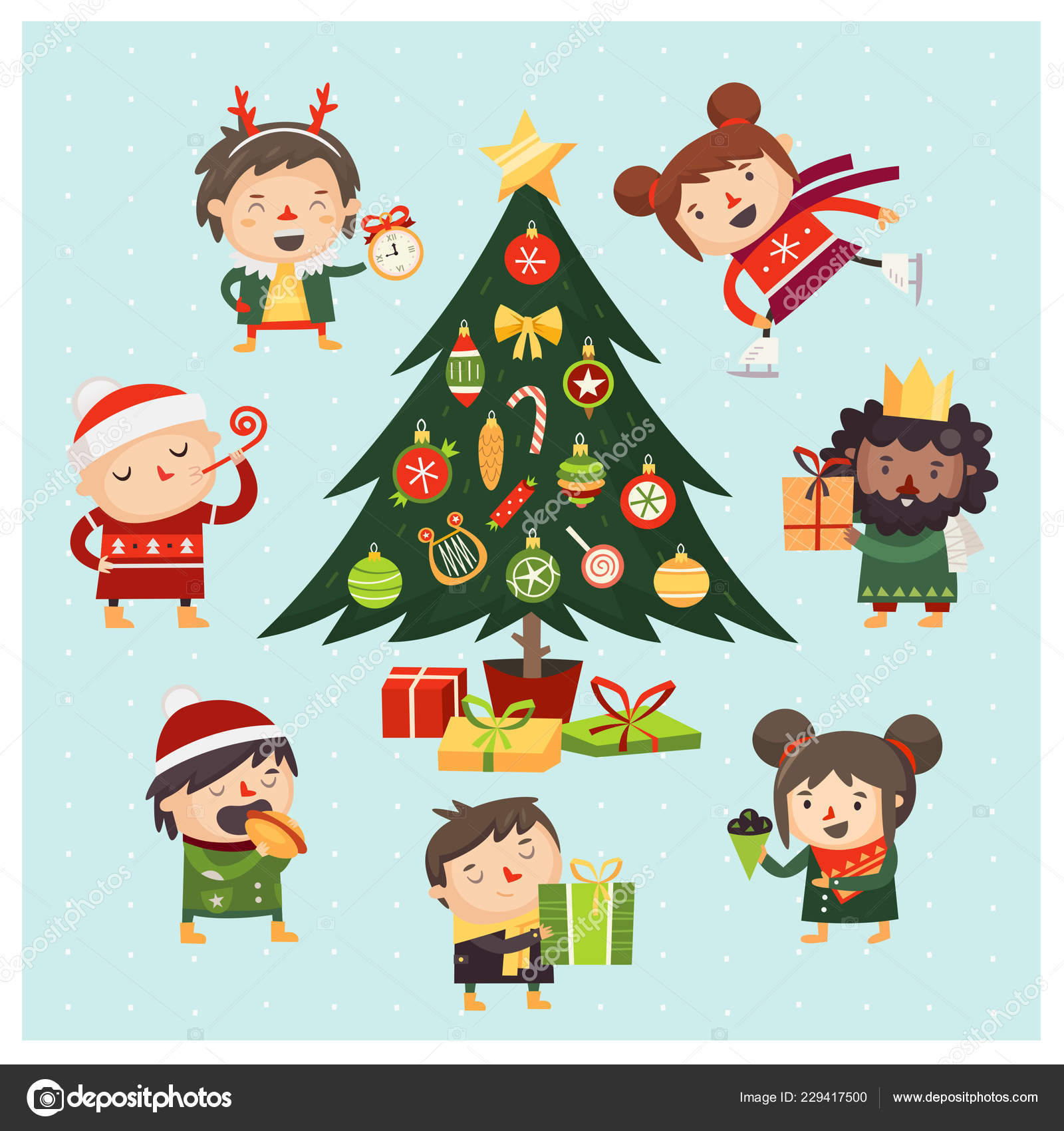 Cartoon Children Adults Gathered Christmas Tree Decorated Various Toys Cartoon Stock Vector C Moonkin 229417500 Most relevant best selling latest uploads. https depositphotos com 229417500 stock illustration cartoon children adults gathered christmas html