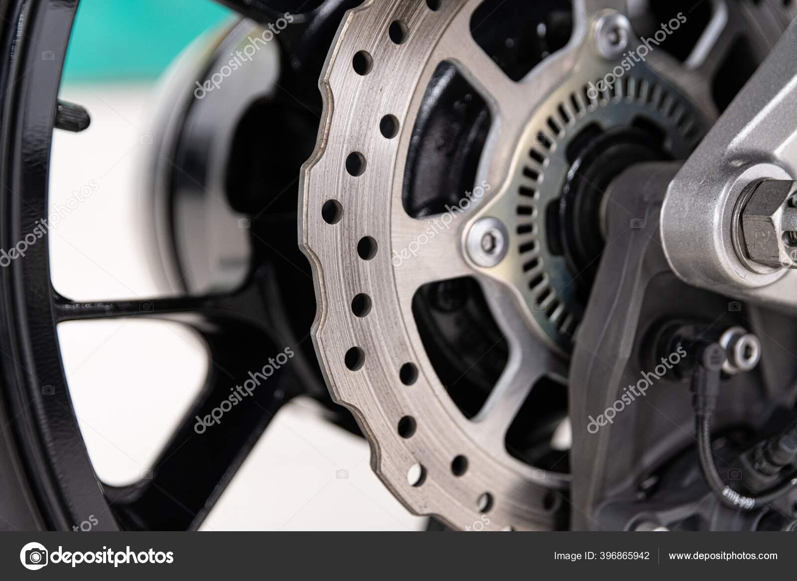 Motorcycle Metal Disk Brake Modern Motorbike Braking Stock Photo C Djedzura 396865942