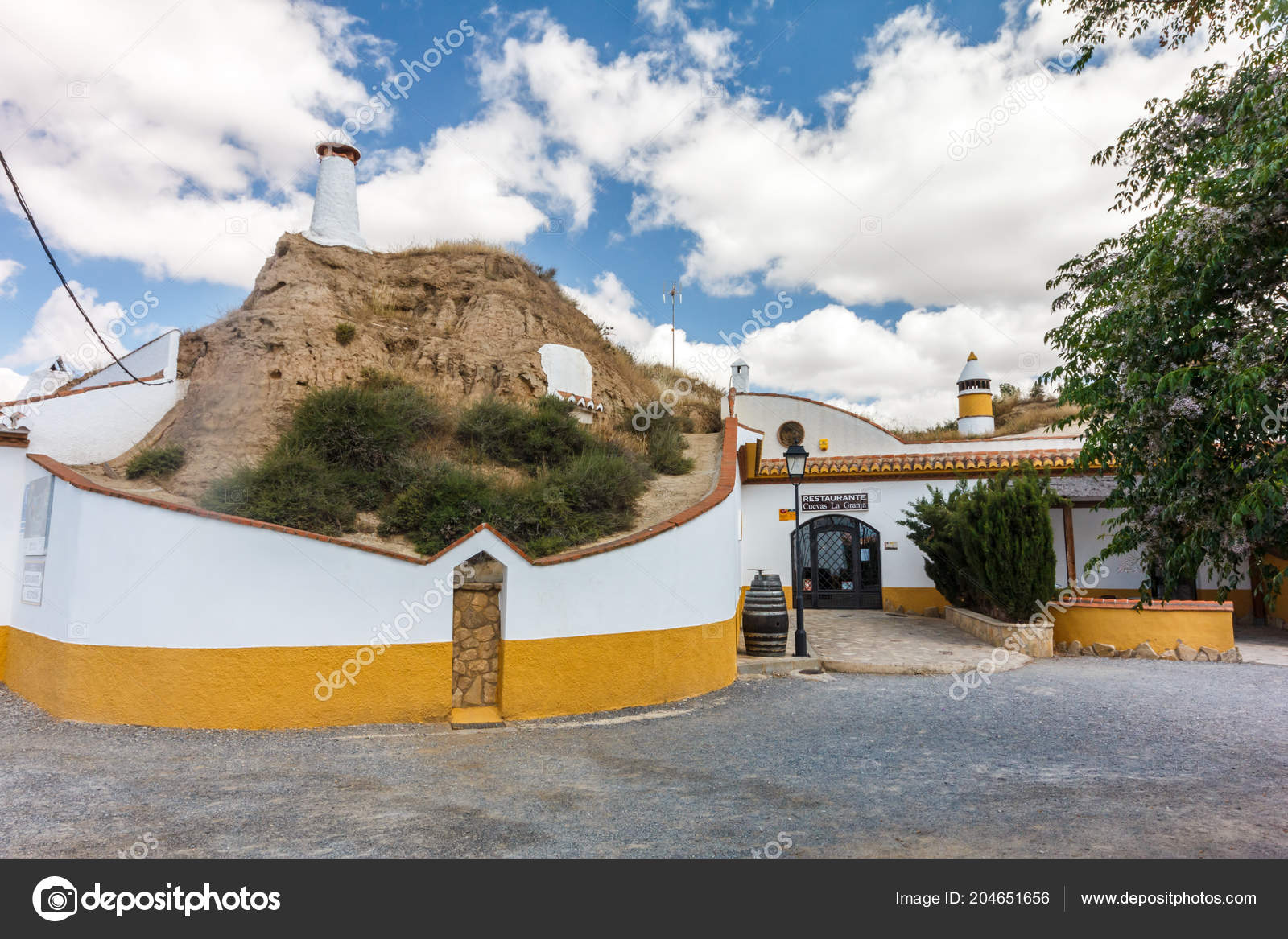 Guadix Spain 12th June 2018 Restaurant Cuevas Granje Farm
