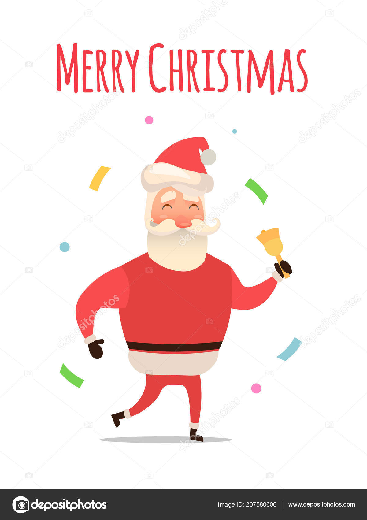cartoon santa claus for your christmas and new year greeting design or animation vector isolated