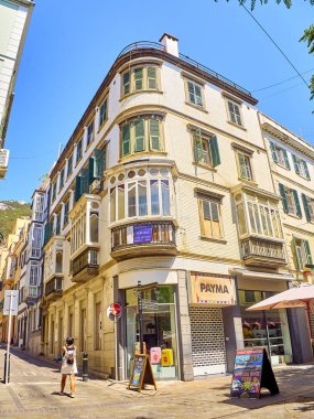 A typical building of Gibraltar downtown. British Overseas Territory. UK.