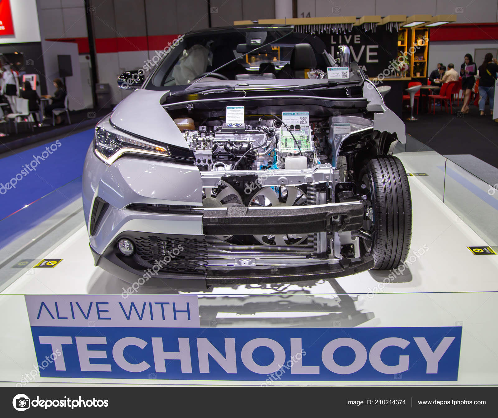 Bangkok Thailand August 2018 Toyota Electric Car Zero Emission