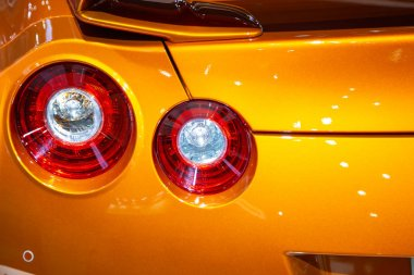 Rear lights of Nissan Skyline GTR