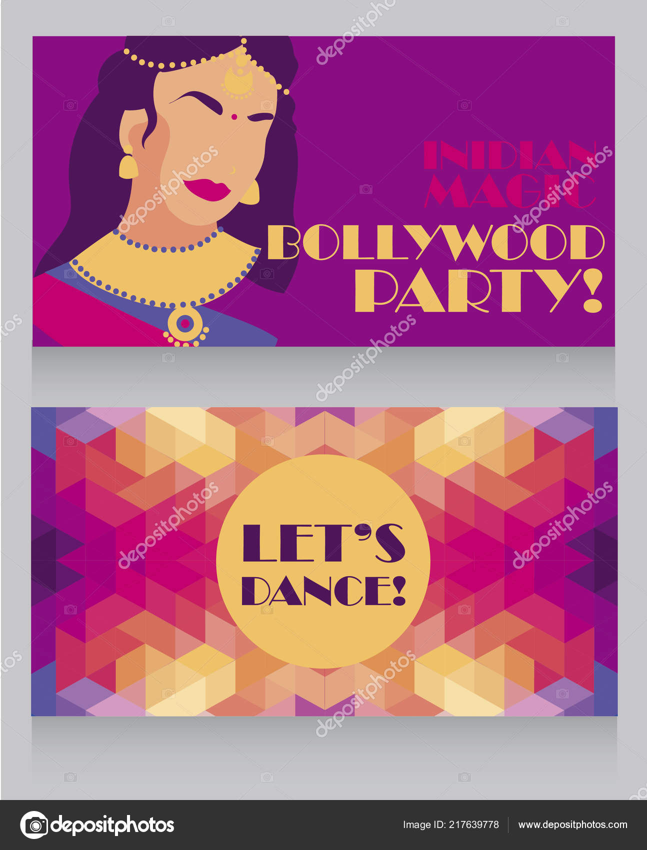 Vector Indian Party Invitations Templates