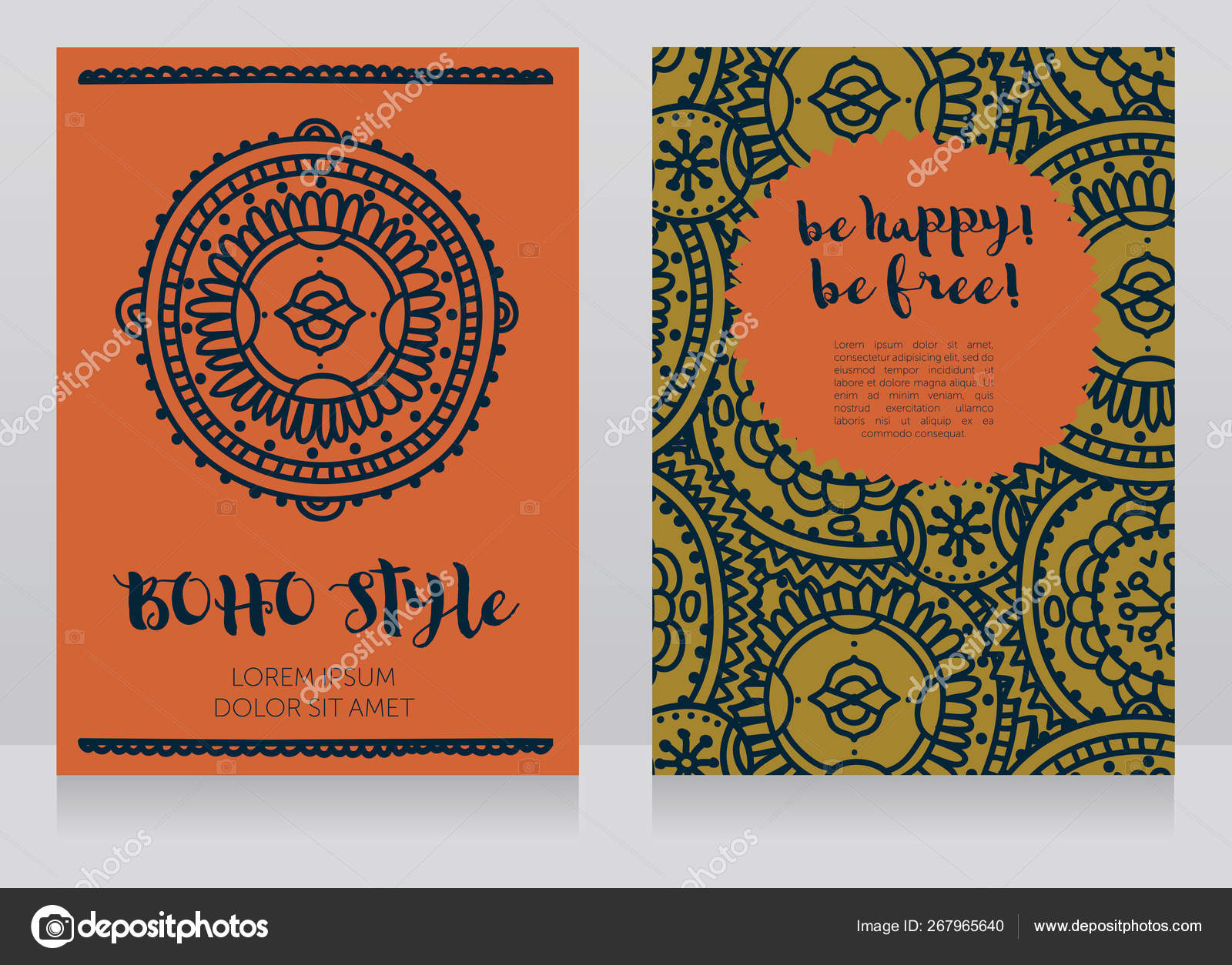 Two Banners Boho Style Can Used Party Invitation Boho Shop