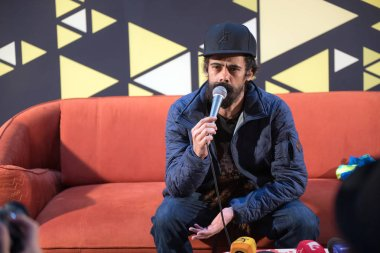 BONTIDA, ROMANIA - JULY 18, 2018: Reggae legend and four time Grammy award winner, Damian Marley attends a press conference after his concert at Electric Castle festival