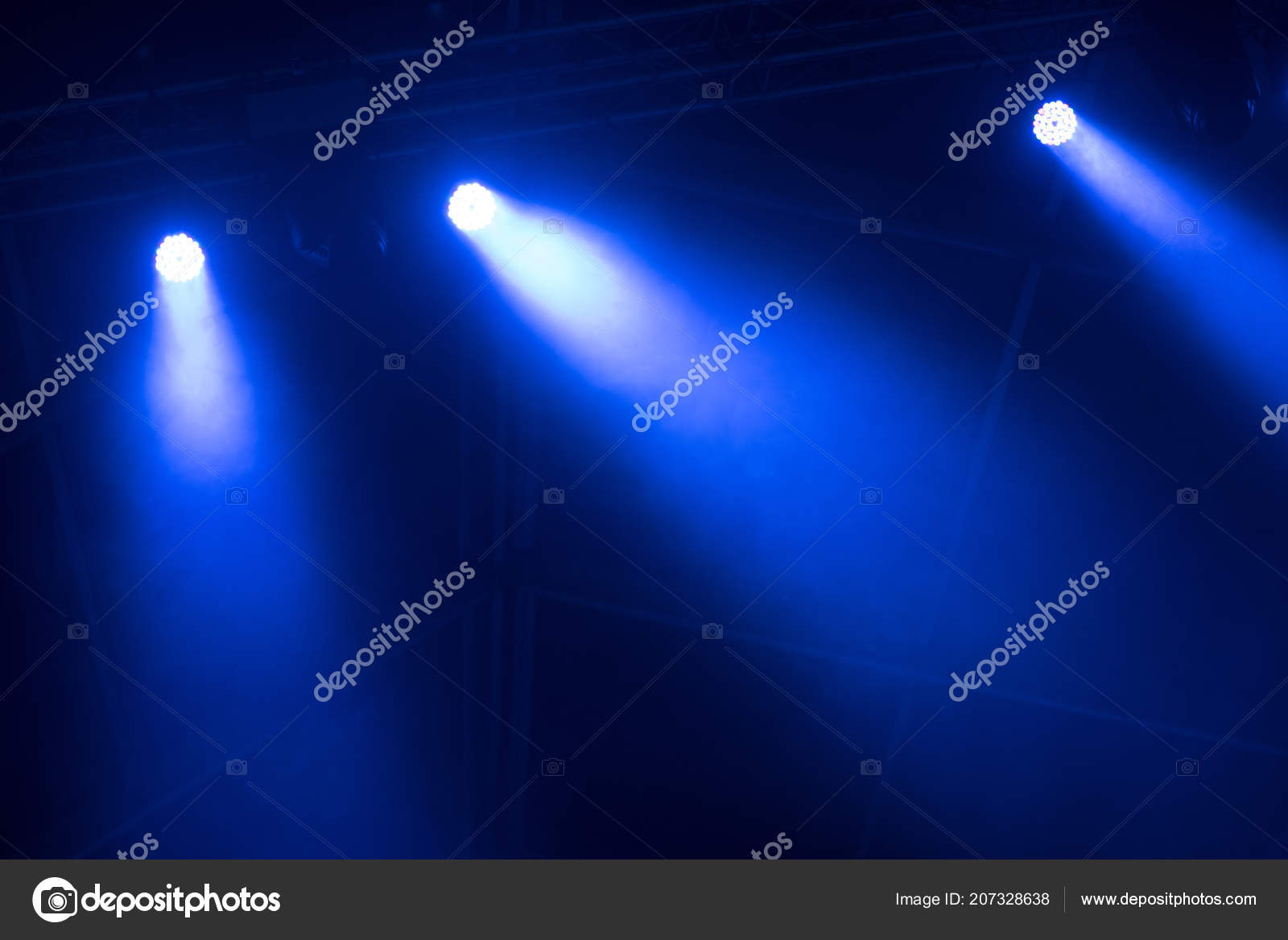 Stage Lights Background Live Concert Stock Photo