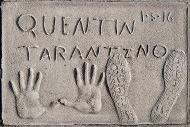 Hand and Footprints of Quentin Tarantino