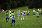 Moskva - 21. července 2018: Sabantui oslav v Moskvě, v Kolomenskoye parku. Sabantui je národní tatarština a baškirština festival, oslava koncem jara v terénu. Během oslav lidé dělají sportovní aktivity
