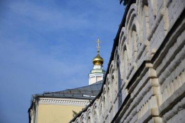 Saint Nicholas Church in Vladimir city, Russia. Blue sky background.
