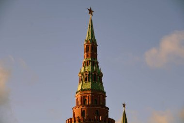 Moscow Kremlin architecture. Moscow Kremlin is a UNESCO World Heritage Site.