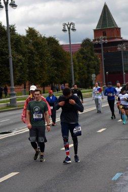 Moscow Marathon runners