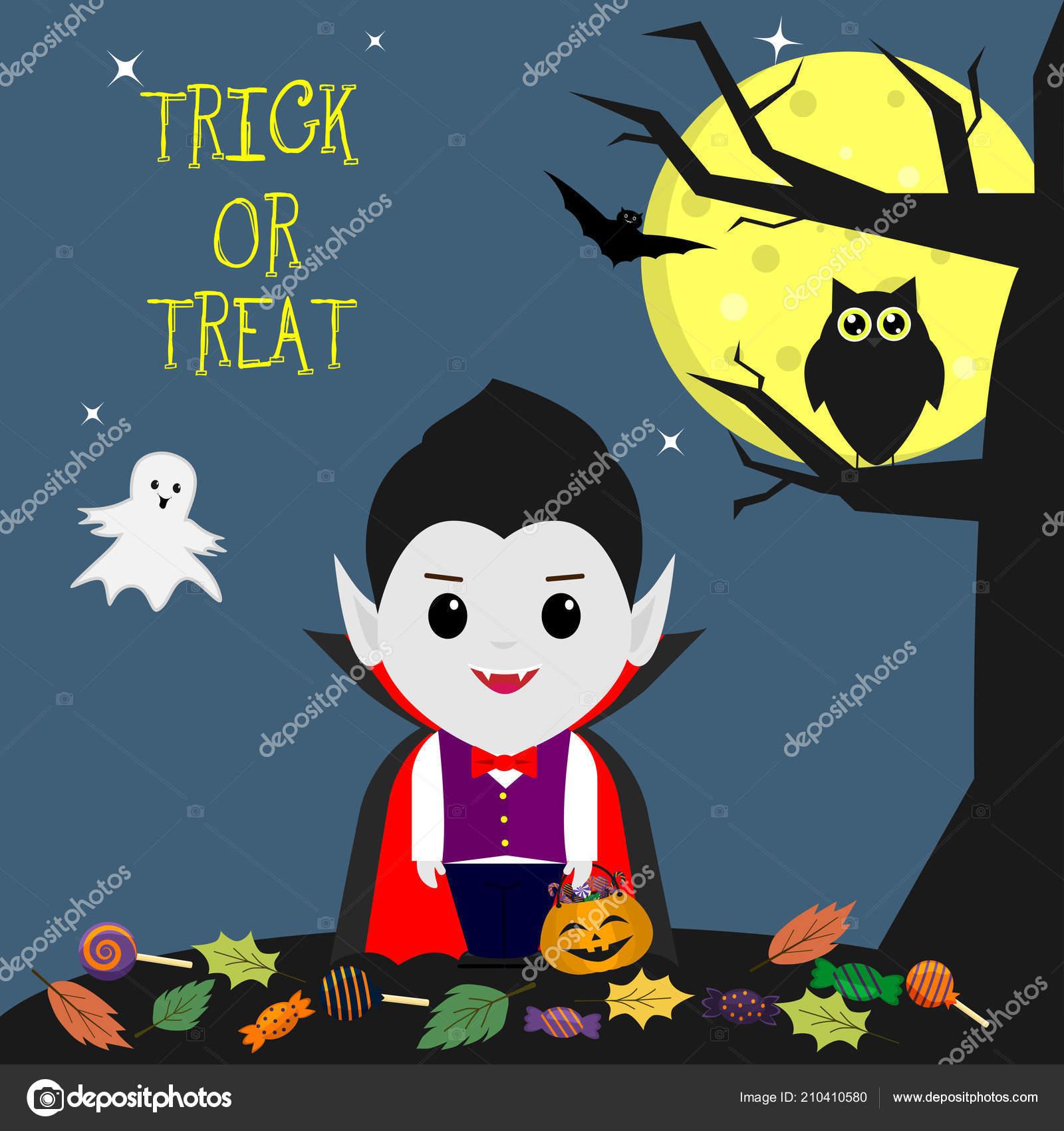 Felice halloween vampiro nello stile cartone animato leva piedi