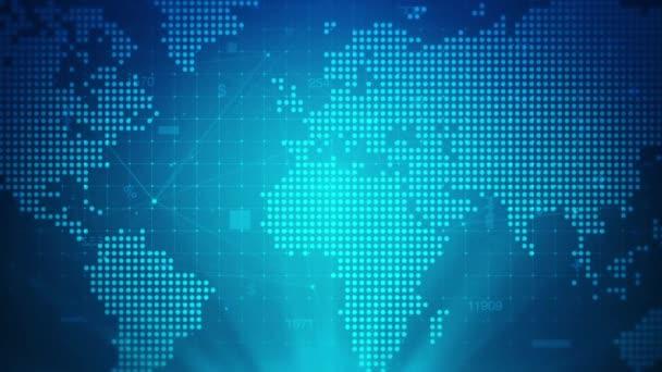 Hintergrund zur digitalen Weltkarte Blaue Punkte