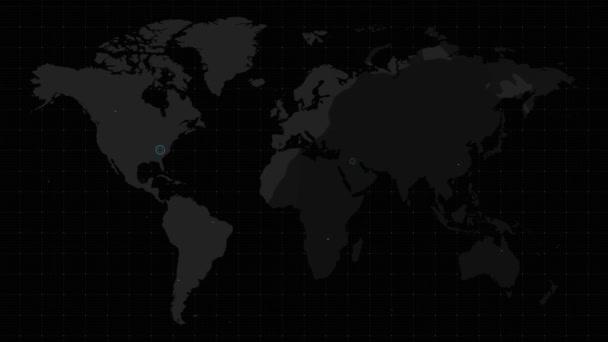 Ikona letadla s obrázkem světa Animovat pozadí