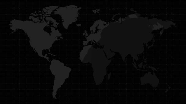 Dark World Map Animate Background