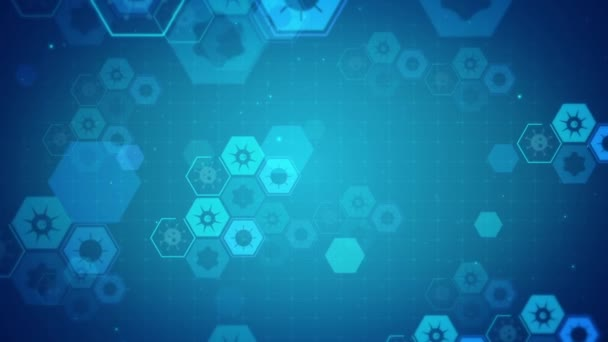 Virenforschung animiert Hintergrund
