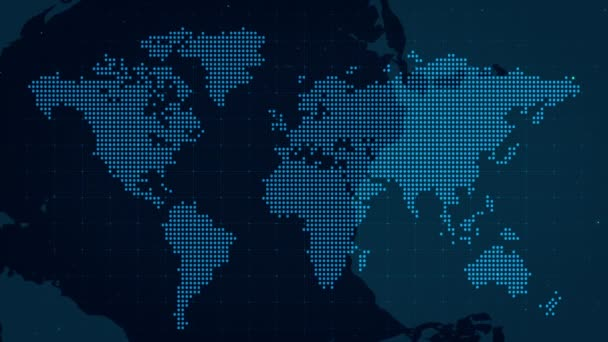 Dark World Map Dots Animate Corporate Background