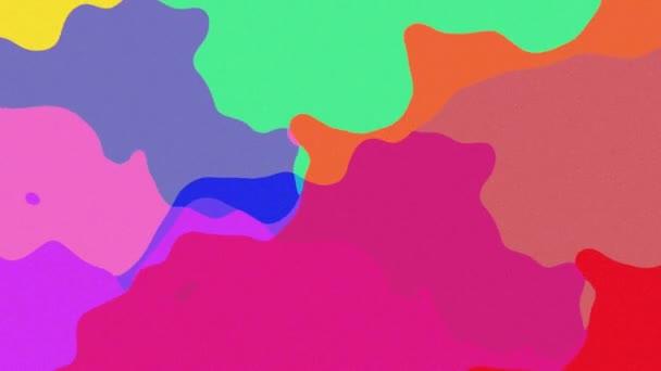 Mnohobarevné abstraktní pozadí, které se pohybuje a teče