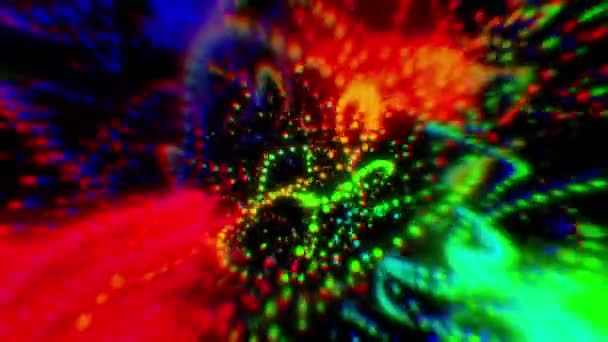 Colorful abstract background.Colorful blurred lights.Color bokeh particles.Colorful abstract fluid wave motion digital design.