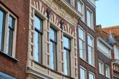 Dordrecht city - jellegzetes homlokzattal és épületek - holland - Holland.