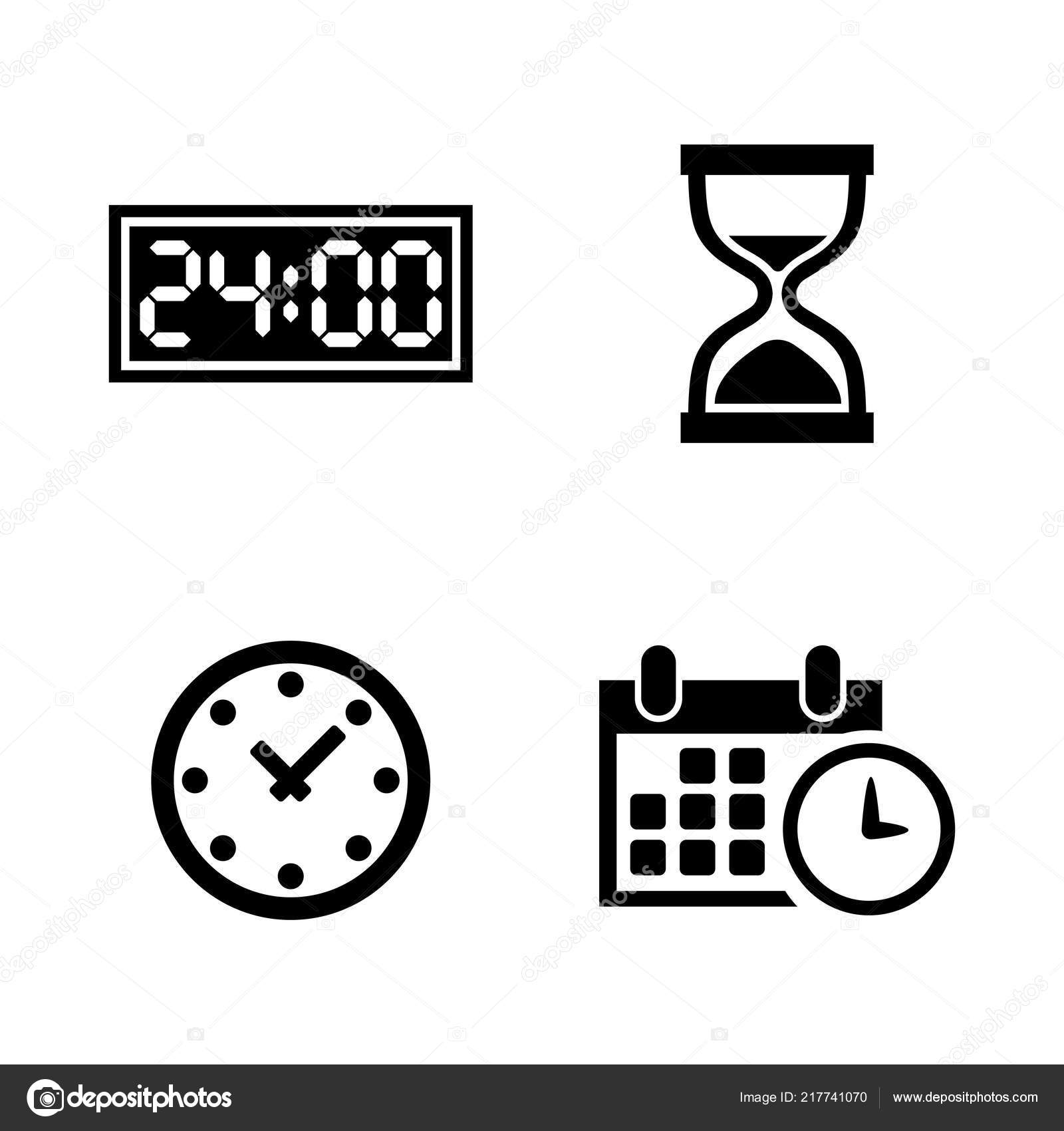 Time, Clock, Watch, Timer  Simple Related Vector Icons