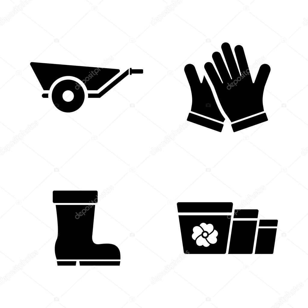 Gardening Grower Tools. Simple Related Vector Icons