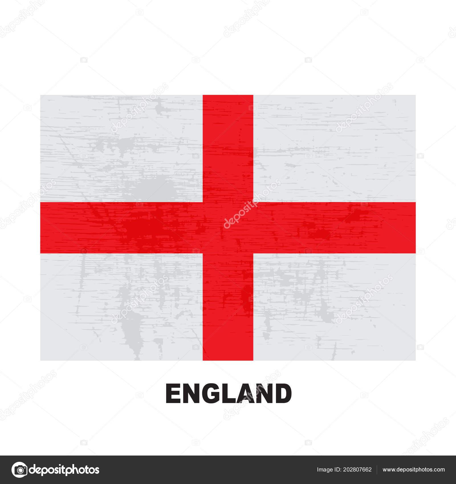 Bandera Inglaterra Aislada Sobre Fondo Blanco Símbolo Nacional ...