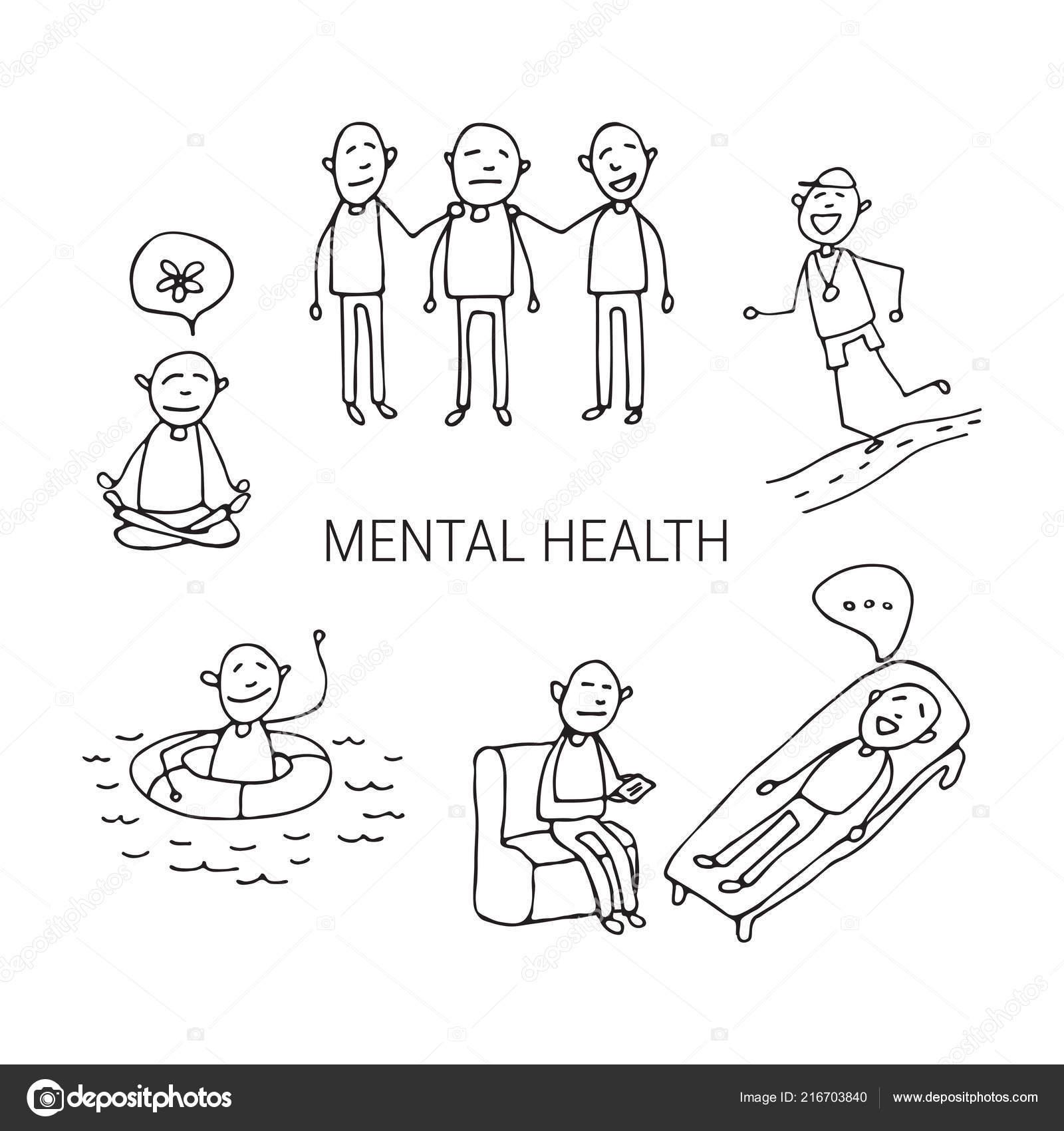 Mental Health Symbols Sports Meditation Psychotherapy Occupational