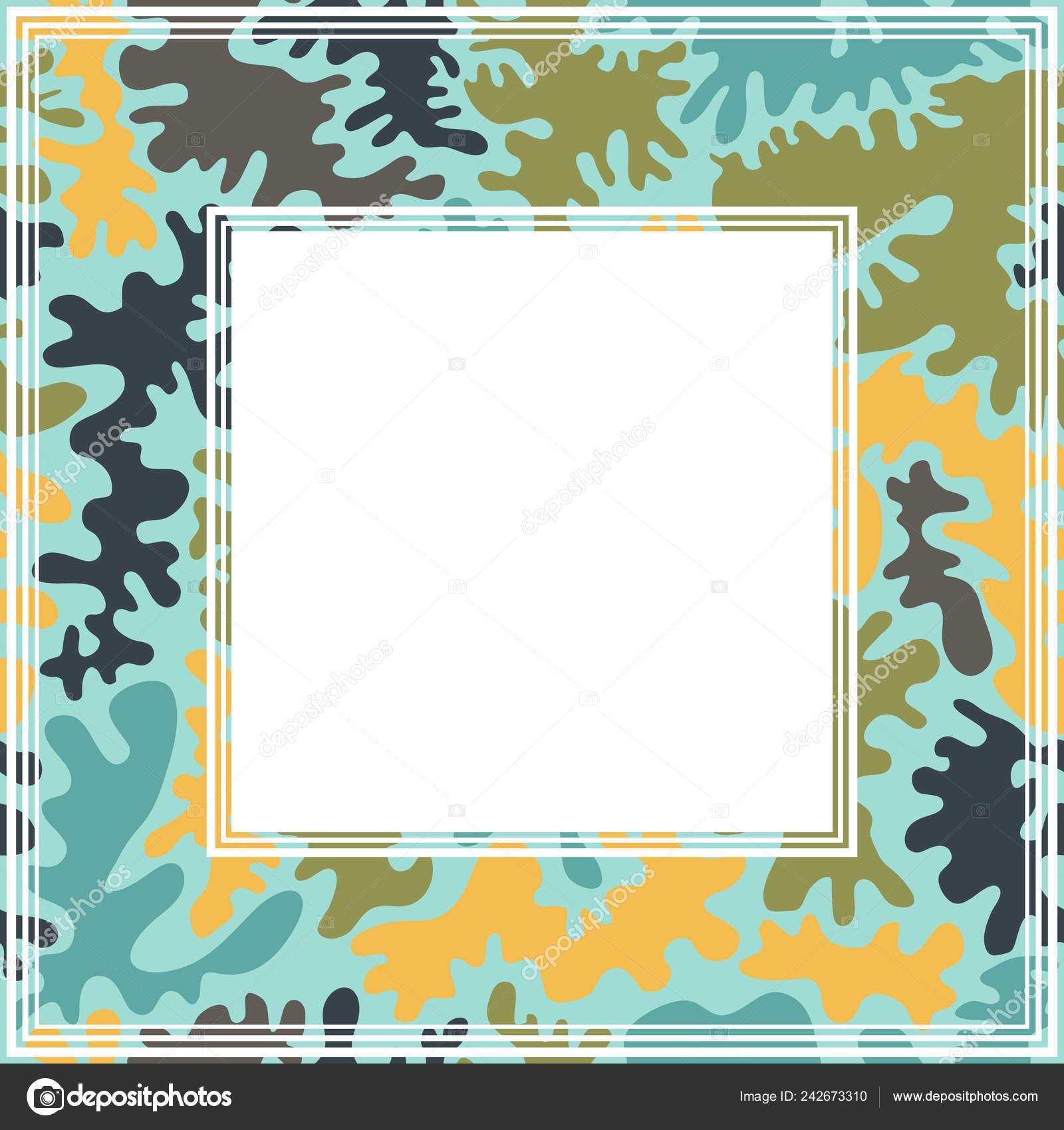 Border Mit Modischen Camouflage Muster Gestaltungselement Für