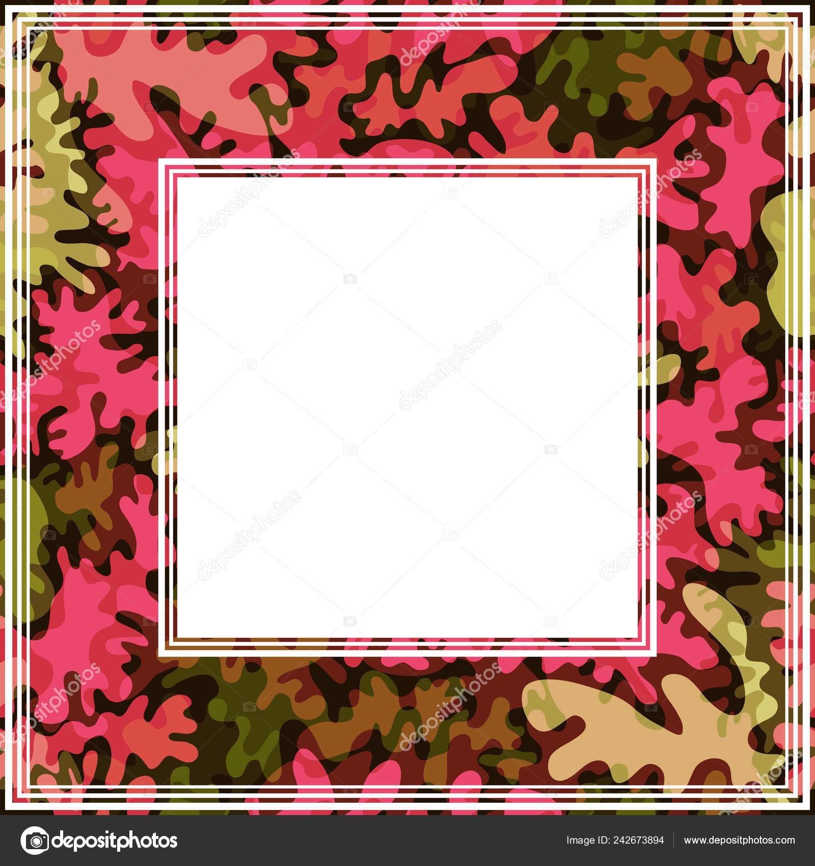 Border Trendy Fashion Camouflage Pattern Design Element Photo Frames