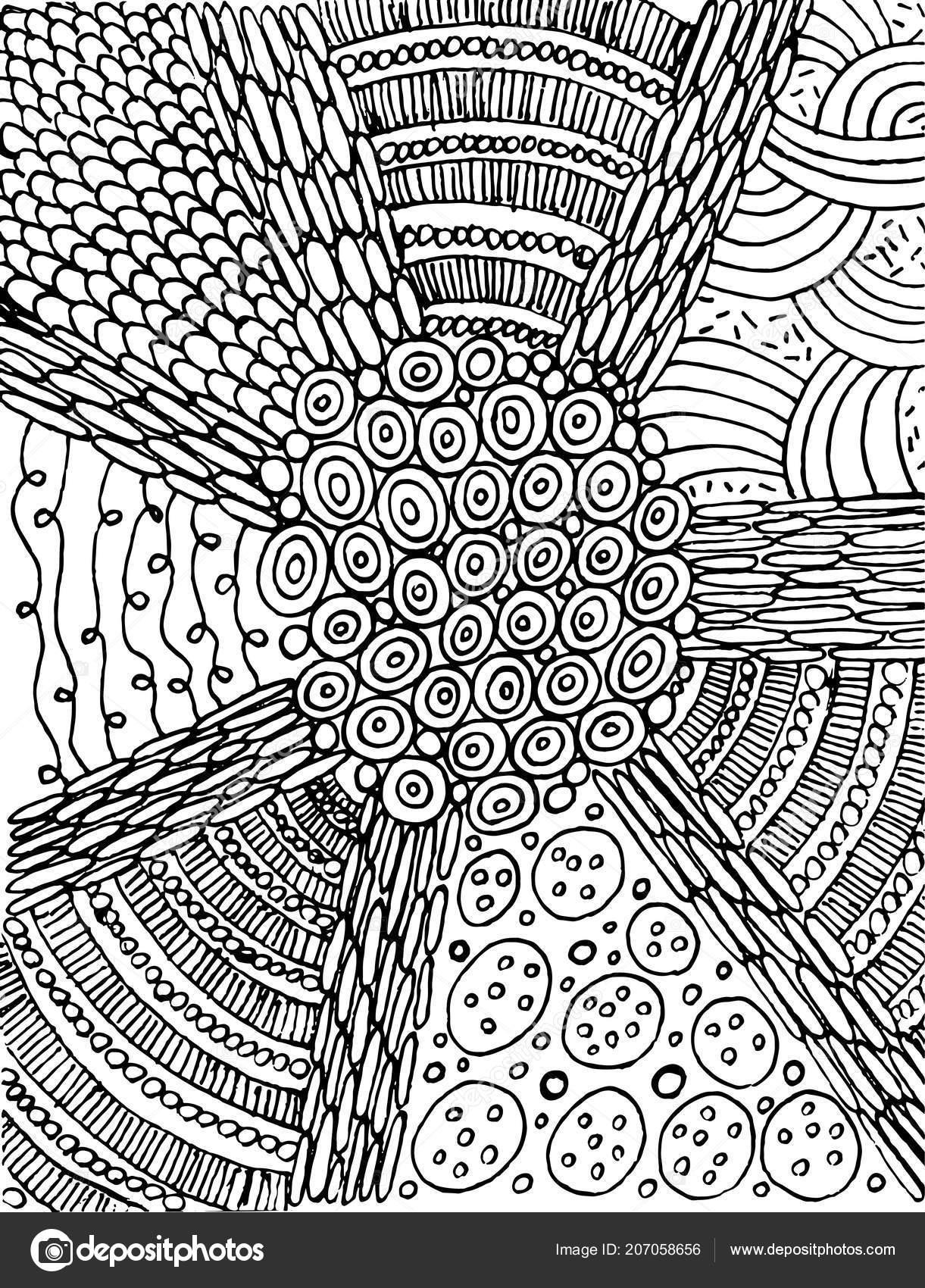 Einfach Doodle Mandala Mit Strahlen Hintergrund Grafik Malvorlagen