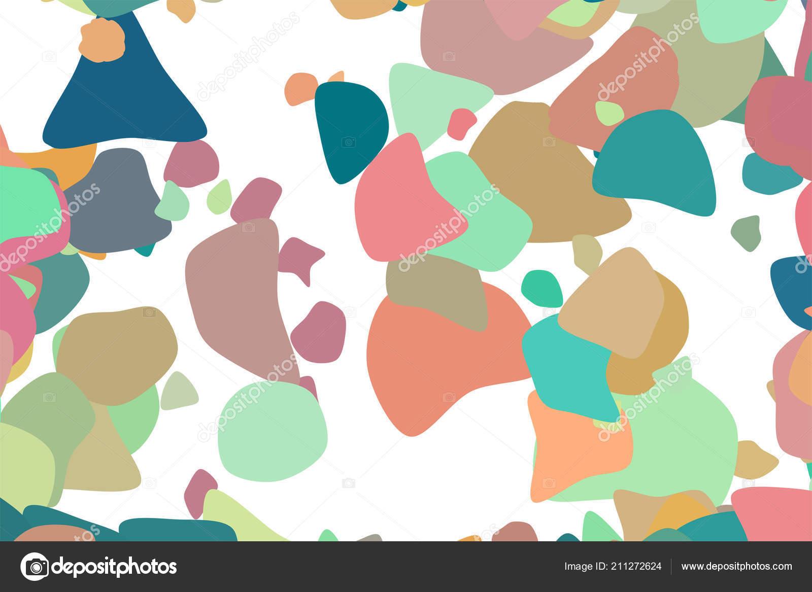 Shape Random Rounded Shapes Abstract Geometric Background