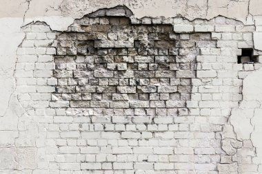Crack in old brick wall.